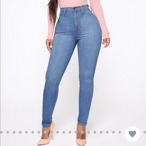 Fashion nova classic high waisted jeans